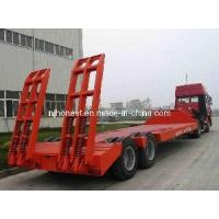 China 2 Axles Low Flatbed Semi Trailer on sale