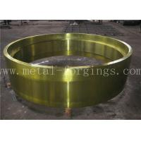 Buy cheap C50 AISI1050 Carbon Steel Forged Ring Hot Rolled Cylinder Forged Disc / Pipe product