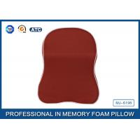 Buy cheap Red Memory Foam Car Neck Pillow With Binding , Good For Neck Head Supporting product
