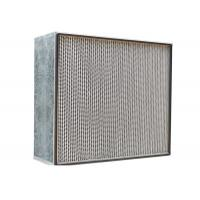Buy cheap Cleanroom HEPA Air Filter 350-400 Degree Centigrade Obtainable Temperature product