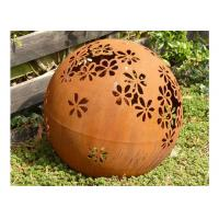 Buy cheap Metal Garden Landscape Corten Steel Ball Sculpture Outdoor Spheres Corrosion Stability product