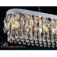 Quality Modern minimalist fashion creative rectangular crystal chandeliers for sale