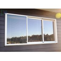 Buy cheap Double Glazed Glass Aluminium Three Track Sliding Window With Mosquito Net / Blinds product