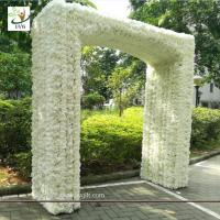 Buy cheap UVG 2.5 meters artificial rose and hydrangea flower entrance for wedding hall decoration CHR1145 from wholesalers