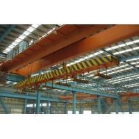 Buy cheap High Speed Double Girder Overhead Crane With Magnet For Lifting Iron / Steel Blocks from wholesalers
