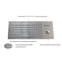 Buy cheap Panel Mounted Metal Rugged Keyboard With Backlit USB Optical Trackball product