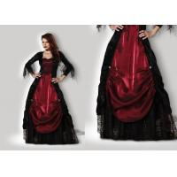 Buy cheap Gothic Vampiress 1002 Halloween Adult Costumes Red Black Color With Petticoat product