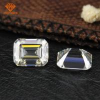 Buy cheap Cheapest factory direct sale 1 carat G-H light yellow color moissanite price vvs from wholesalers