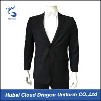 Cheap Regular Fit Black Security Guard Jackets Law Enforcement Coats For Police / Worker wholesale