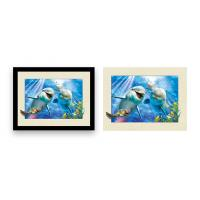 Buy cheap 12x16 Inch Framed Dolphin Picture Wall Arts 3d Lenticular Picture For Home Decoration product