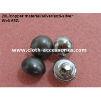 China Round Pearl Shank Custom Clothing Buttons Copper Color With Polished on sale