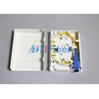 Buy cheap FTTH 86 Type Optical Termination Box With  2 Port Inlet / Outlet from wholesalers