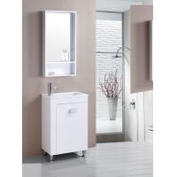 Buy cheap floor PVC Bathroom Cabinet / Single Bowl Bathroom Vanities with mirror 550cm product