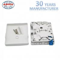 China FTTH PTO Fiber Distribution Box Screw Lock ABS Material 2 Core SC Capacity on sale
