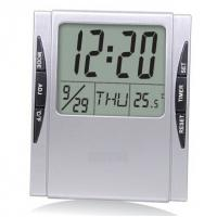 China Bestselling small size desktop LCD travel clock HF-8104 on sale