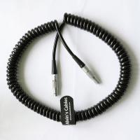 Buy cheap 4 Pin Male To 4 Pin Male Coiled Twist Cable For Teradek Bond ARRI Alexa Camera product