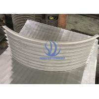 Liquid Fitration Trommel Made Of 8 Parts Bent Wedge Wire Screens , 50 Micron Slot Size