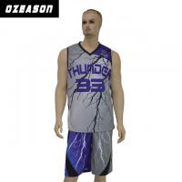 Buy cheap OEM Breathable Mesh Never Fading Sublimation Basketball Jersey from wholesalers