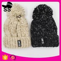Buy cheap 2017 top women 20*24+5cm 109g fashion cheap knitted pom pom clip flower beanie wholesale winter knitting hats product