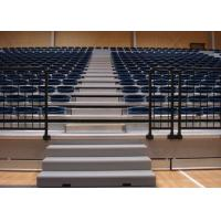 China Remotely Controlled Retractable Grandstands / Retractable Stadium Seating For Tennis Hall on sale
