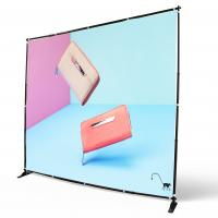 Buy cheap Digital Printing Adjustable Banner Stands Step Repeat Backdrop Telescopic product