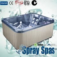 220V / 16A acrylic shell whirlpool massage outdoor portable spas hot tubs for 3