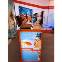 Buy cheap Aluminum SEG Counter pop up banner stands , pop up exhibition stands product