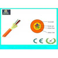 China Indoor Distribution 12 Strand  Fiber Optic Cable , Loose Tube Fiber Cable GJFJV on sale