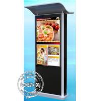 Buy cheap IP65 43 inch Android Touch Screen Kiosk 2500 nits Road Sign Roof Protection Way Finder from wholesalers