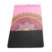 Buy cheap High quality washable 72''x 26'' microfiber suede surface rubber bottom yoga mat from wholesalers