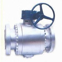 China 3 Pieces Trunnion Mounted Ball Valve 900LB Gear Operated Ball Valve on sale