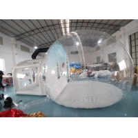 Buy cheap Christmas Decor Clear Inflatable Bubble Tent With Blowing Snow product
