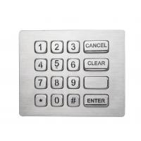 Buy cheap Durable16 keys backlit brushed steel numeric keypad with USB electronic controller product