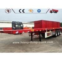 China 70 Ton Low Flatbed Semi Trailer Truck BV SSS ISO Certification Long Life on sale