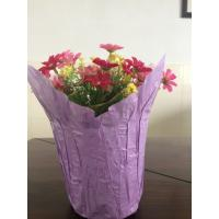China Pearlized Film Flower Pot Covers for Christmas , Decorative Pot Sleeve with BOPP / CPP on sale