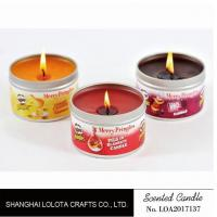 Buy cheap Small Exquisite Wax Scented Tin Candles Round Sticker For Travel And Festival product