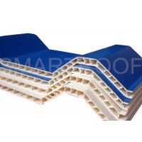Buy cheap Noise Absorbing Double Wall Corrugated PVC Sheet 10MM , Plastic Hollow Sheet product