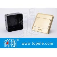 Buy cheap OEM Square Panel Copper / GFCI Receptacles Round Aluminum Aloy POP-up Type Floor Socket from wholesalers