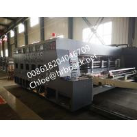 Buy cheap vacuum Flexo Printing And Die Cutting Machine Printer Slotter corrugated carton box Machine product