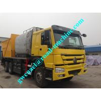 China 5.5KW 6x4 Concrete  Asphalt paving truck, spreading truck Trucks, Right Hand Drive 9835×2496×3840 Mm on sale