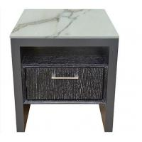Buy cheap Stone Top Night Stands Oak Wood For Hotel Bedroom , Metal Brushed Handle product