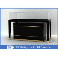 Buy cheap Modern Fashion Black Glass Jewellery Showcase With Large Storage from wholesalers