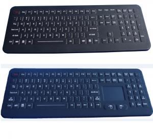 Buy cheap IP65 106 keys black USB customized ruggedized silicone rubber medical keyboard product