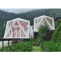 Buy cheap Outdoor Portable Luxury Hotel Use Triangle Transparent PVC Inflatable Polygon Star lawn tent bubble Camping Tent product