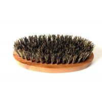 100% Boar Hair Bristle Bamboo Beard Brush: Military Round Bamboo for Men Brush Strokes. Great...
