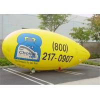 Customised PVC Inflatable Advertising Balloons Yellow Helium Zeppelin Balloon