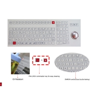 Buy cheap Food and Beverage Industrial Membrane Keyboard with Trackball Omron Switch product