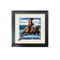 Buy cheap Running Horse Image 3D Lenticular Printing Service MDP Frame 5D Effect product