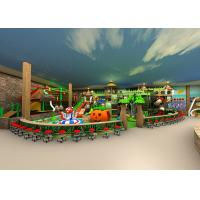China Jungle Series Indoor Playground Equipment Soft Play Component With Fiberglass Slide on sale