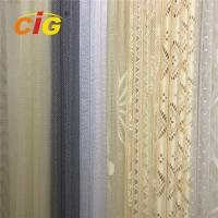 Buy cheap 100 Polyester Lace Curtain Fabric , Lace Table Cloth Upholstery Fabric 50-200gsm Weight product